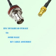 BNC Bulkhead Female to SSMB Male RF Cable Assembly