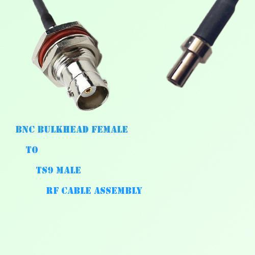 BNC Bulkhead Female to TS9 Male RF Cable Assembly