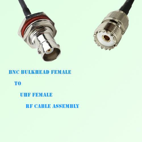 BNC Bulkhead Female to UHF Female RF Cable Assembly