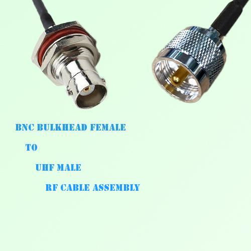BNC Bulkhead Female to UHF Male RF Cable Assembly