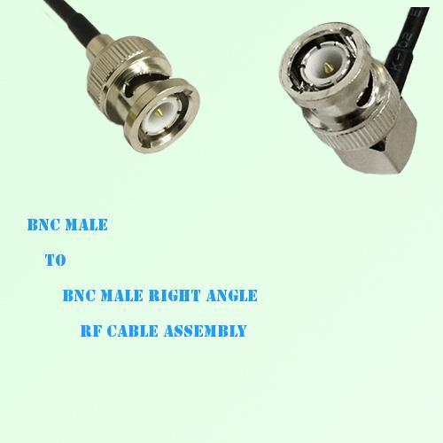 BNC Male to BNC Male Right Angle RF Cable Assembly