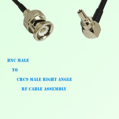 BNC Male to CRC9 Male Right Angle RF Cable Assembly