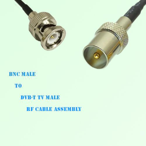 BNC Male to DVB-T TV Male RF Cable Assembly