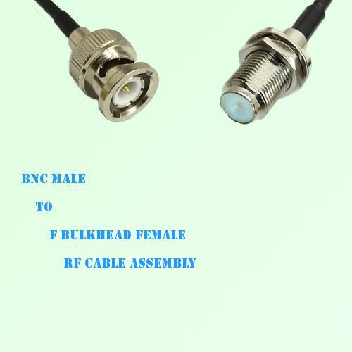 BNC Male to F Bulkhead Female RF Cable Assembly