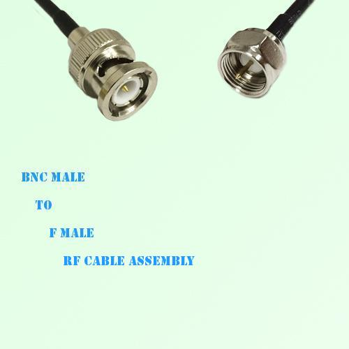 BNC Male to F Male RF Cable Assembly