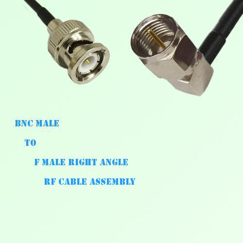 BNC Male to F Male Right Angle RF Cable Assembly