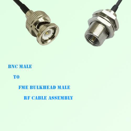 BNC Male to FME Bulkhead Male RF Cable Assembly