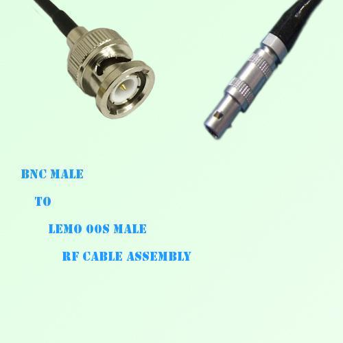 BNC Male to Lemo FFA 00S Male RF Cable Assembly