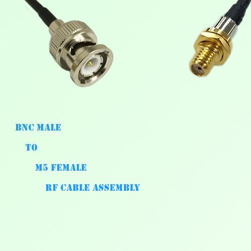BNC Male to Microdot 10-32 M5 Female RF Cable Assembly