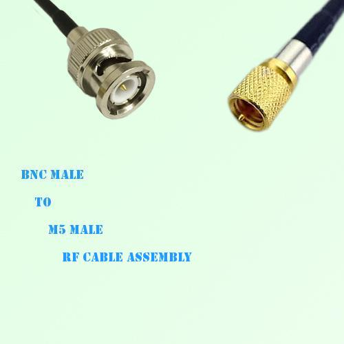 BNC Male to Microdot 10-32 M5 Male RF Cable Assembly