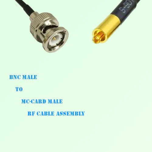 BNC Male to MC-Card Male RF Cable Assembly