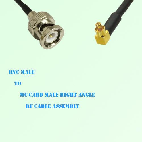 BNC Male to MC-Card Male Right Angle RF Cable Assembly