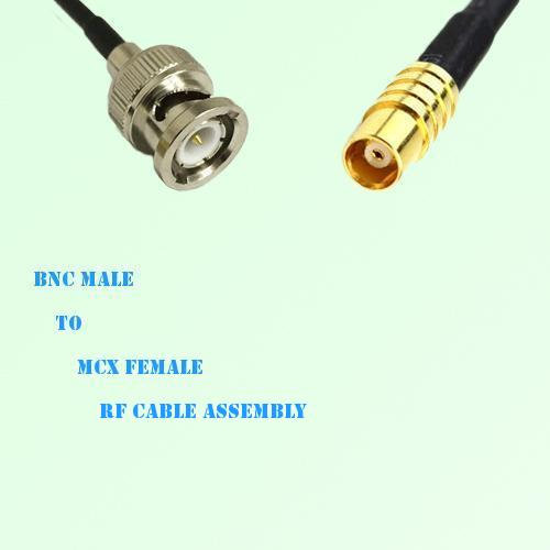 BNC Male to MCX Female RF Cable Assembly