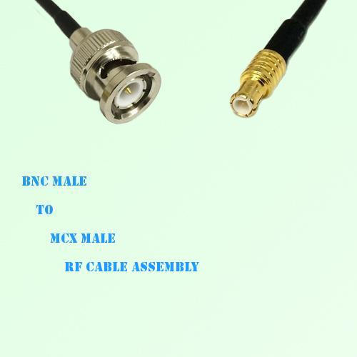 BNC Male to MCX Male RF Cable Assembly