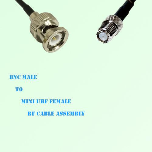 BNC Male to Mini UHF Female RF Cable Assembly