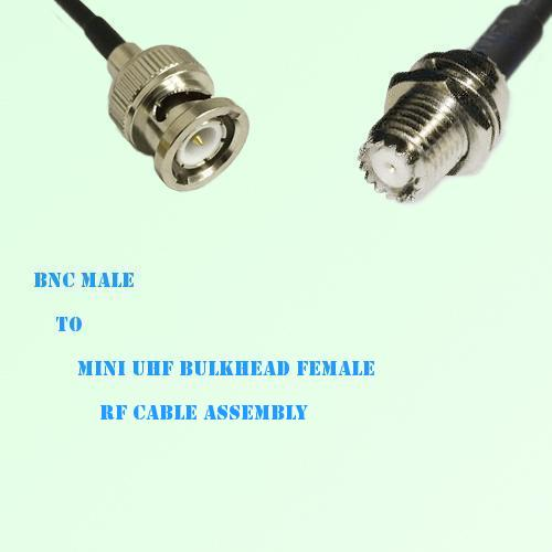 BNC Male to Mini UHF Bulkhead Female RF Cable Assembly