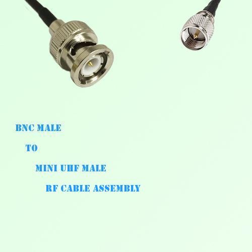 BNC Male to Mini UHF Male RF Cable Assembly