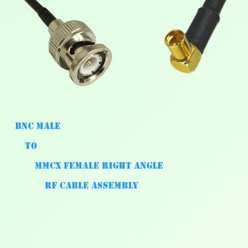 BNC Male to MMCX Female Right Angle RF Cable Assembly