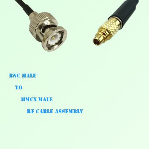 BNC Male to MMCX Male RF Cable Assembly