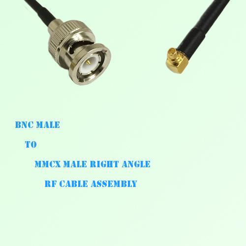 BNC Male to MMCX Male Right Angle RF Cable Assembly