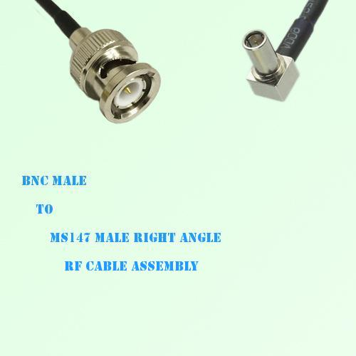 BNC Male to MS147 Male Right Angle RF Cable Assembly