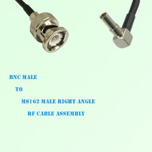 BNC Male to MS162 Male Right Angle RF Cable Assembly