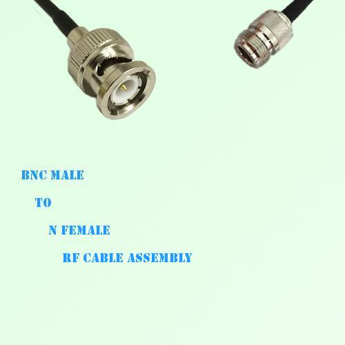 BNC Male to N Female RF Cable Assembly