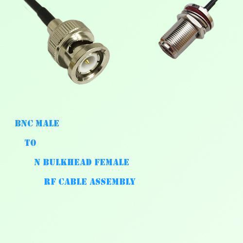 BNC Male to N Bulkhead Female RF Cable Assembly