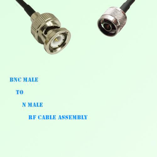 BNC Male to N Male RF Cable Assembly