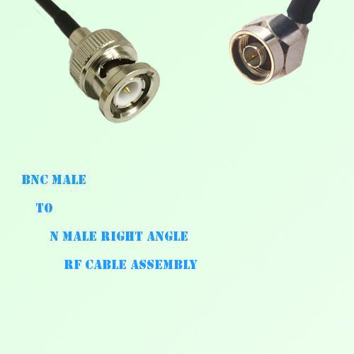 BNC Male to N Male Right Angle RF Cable Assembly