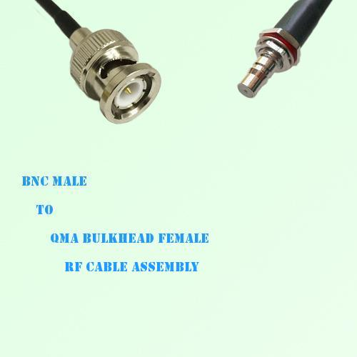 BNC Male to QMA Bulkhead Female RF Cable Assembly