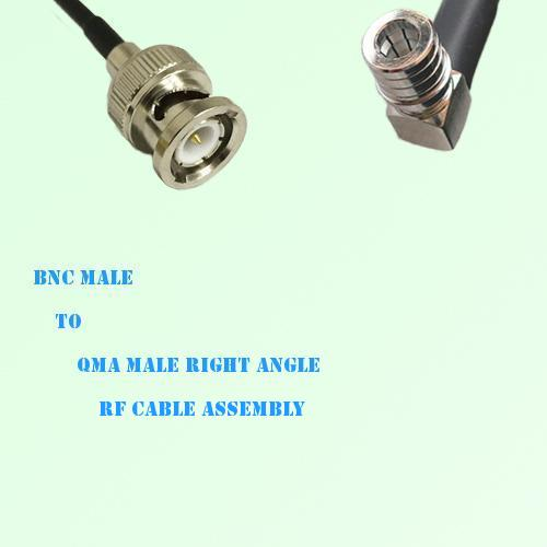 BNC Male to QMA Male Right Angle RF Cable Assembly