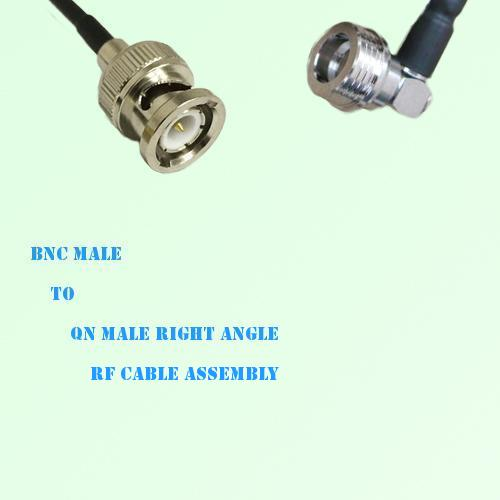 BNC Male to QN Male Right Angle RF Cable Assembly