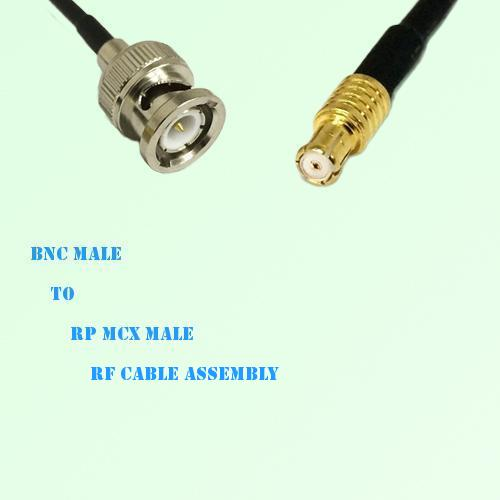BNC Male to RP MCX Male RF Cable Assembly