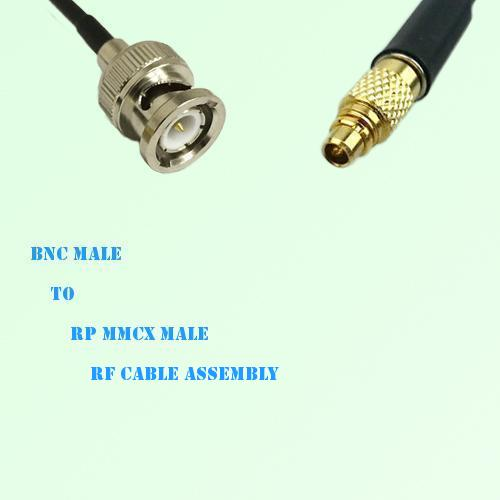 BNC Male to RP MMCX Male RF Cable Assembly