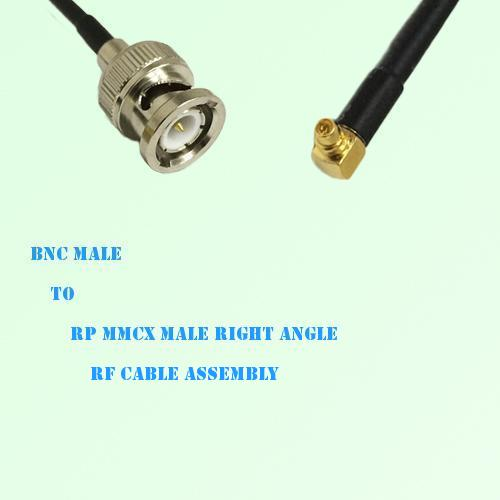 BNC Male to RP MMCX Male Right Angle RF Cable Assembly