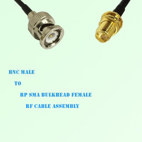 BNC Male to RP SMA Bulkhead Female RF Cable Assembly