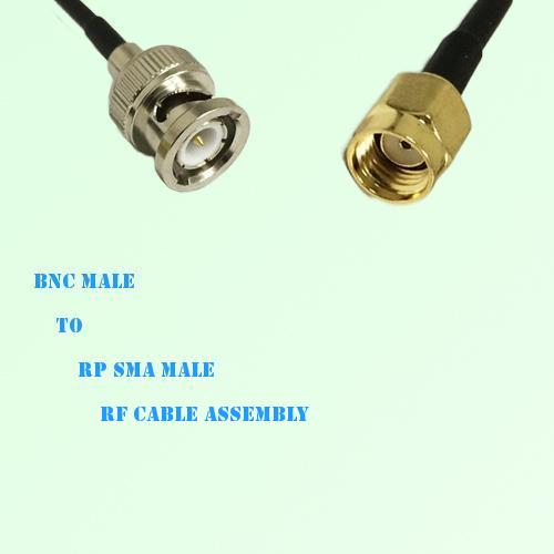 BNC Male to RP SMA Male RF Cable Assembly