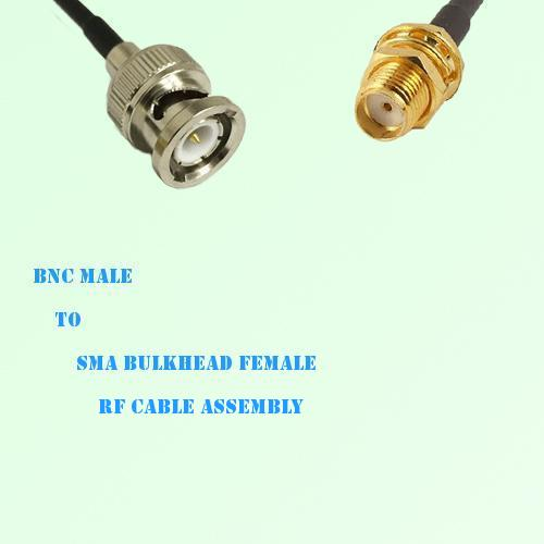 BNC Male to SMA Bulkhead Female RF Cable Assembly