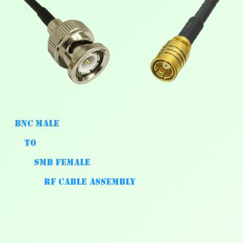 BNC Male to SMB Female RF Cable Assembly