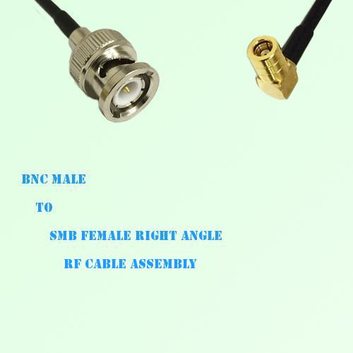 BNC Male to SMB Female Right Angle RF Cable Assembly