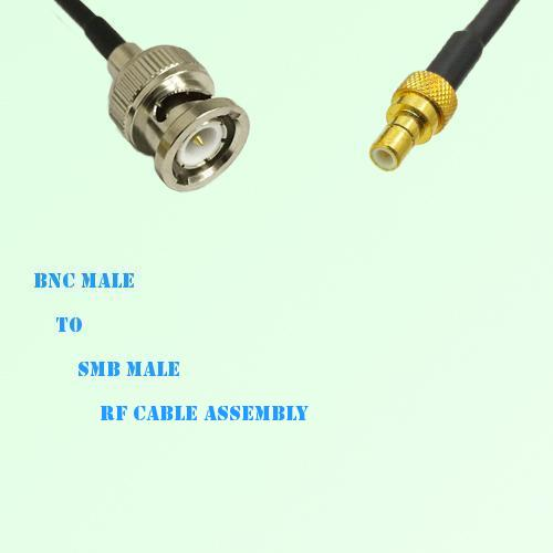 BNC Male to SMB Male RF Cable Assembly