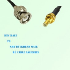 BNC Male to SMB Bulkhead Male RF Cable Assembly