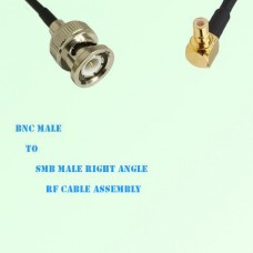 BNC Male to SMB Male Right Angle RF Cable Assembly