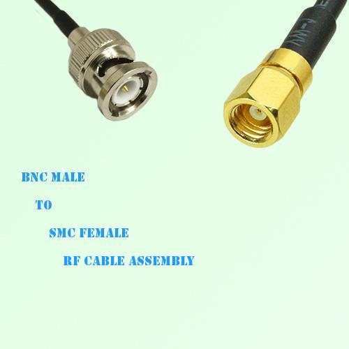 BNC Male to SMC Female RF Cable Assembly