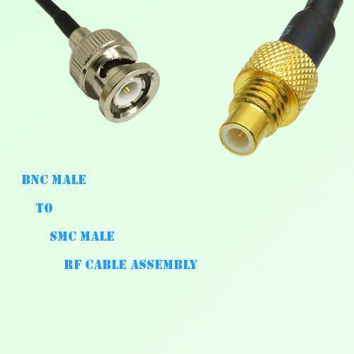 BNC Male to SMC Male RF Cable Assembly