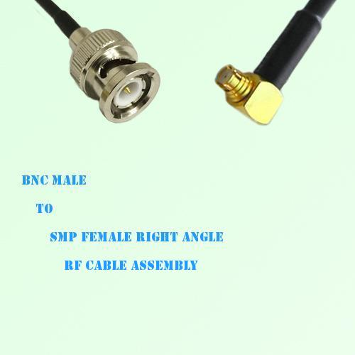 BNC Male to SMP Female Right Angle RF Cable Assembly