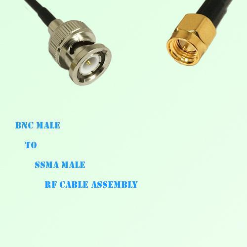 BNC Male to SSMA Male RF Cable Assembly