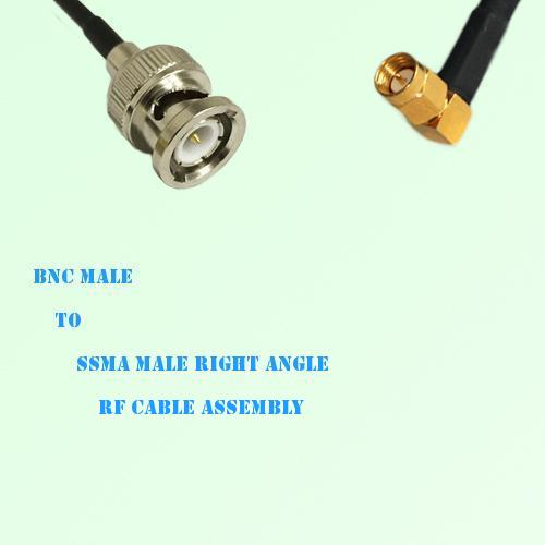 BNC Male to SSMA Male Right Angle RF Cable Assembly