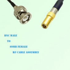 BNC Male to SSMB Female RF Cable Assembly